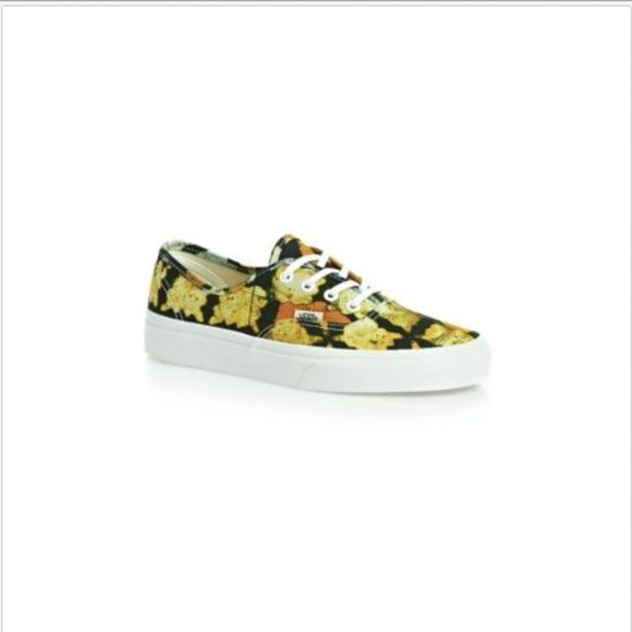 6a467c4ec3 Vans Authentic Della Batik Yellow Casual Shoes🌹